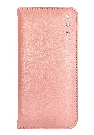 「iPhone 6」対応 ポイントデコレーションブックタイプケース ピンク