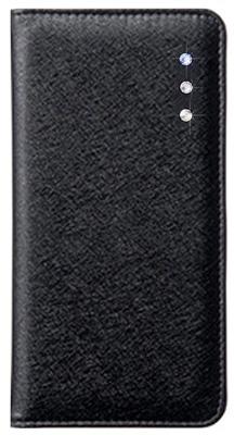 iPhone 6s Plus用ポイントデコレーションブックタイプケース / ブラック
