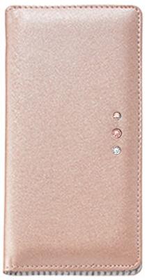 Xperia(TM) Z5 ポイントデコレーションブックタイプケース / ピンク
