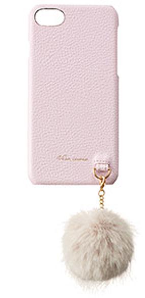 iPhone7用 ファーストラップ付き本革カバー / pink