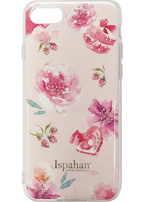 iPhone 8用 ピエール・エルメ Ispahanハイブリットカバー ピンク