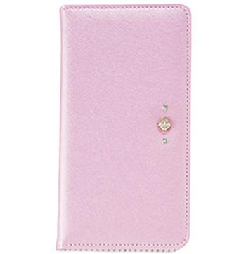 Qua phone PX用 ポイントデコレーション ブックタイプケース / ピンク