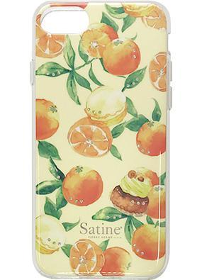 iPhone 8用 ピエール・エルメ Satineハイブリットカバー オレンジ