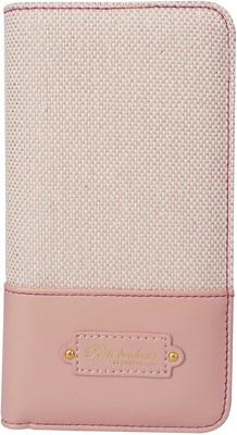 iPhone 6s用 キャンバスブックタイプケース / ピンク