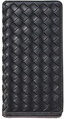 Xperia(TM) Z5 編み込みレザー調ブックタイプケース / ブラック