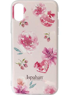 iPhone X用 ピエール・エルメ Ispahanハイブリットカバー ピンク