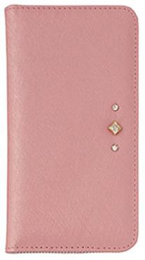 iPhone7 Plus用 ポイントデコレーションブックタイプケース / ピンク