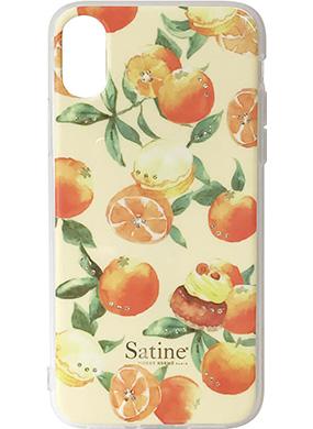 iPhone X用 ピエール・エルメ Satineハイブリットカバー オレンジ