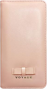 iPhone XS用 リボン付きブックタイプケース ピンク