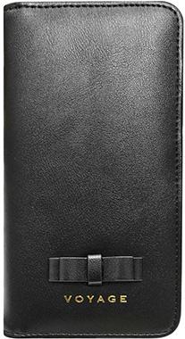 iPhone XS用 リボン付きブックタイプケース ブラック