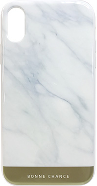 iPhone XR用 耐衝撃ハイブリッドカバー マーブルホワイト