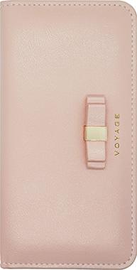 iPhone SE(第2世代)用 VOYAGE リボンブックタイプケース / ピンク