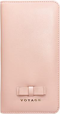 iPhone XR用 リボン付きブックタイプケース ピンク